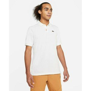 The Nike Polo Dri-Fit Dunk Low Ceramic S/S L White